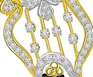 Very Playful 0.52ct Diamond Mangalsutra Pendants For Her
