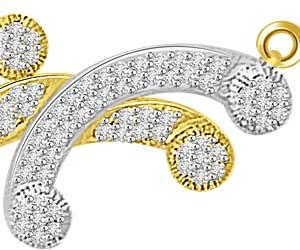 1.53ct Two Tone Stylish Diamond Necklace Pendants