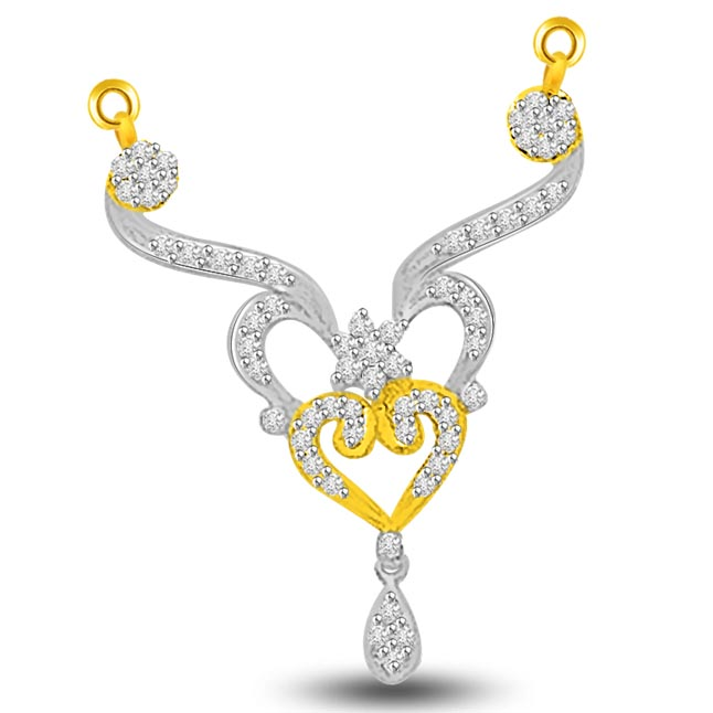 Dainty & Delicate 0.70ct Diamond Necklace Pendants