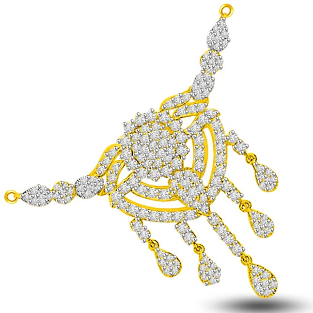 1.87ct Dew Drop Style Diamond Necklace Pendants