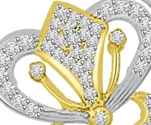 Heart N Heart 0.42ct Diamond Pendants Necklace