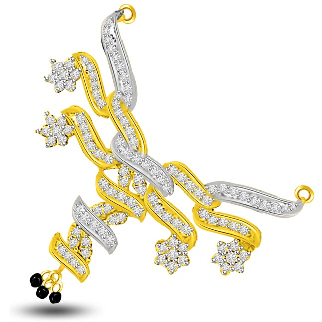 Made In Heaven 0.59ct Diamond Mangalsutra Pendants