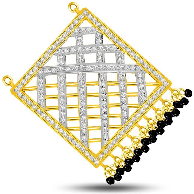 In the Box Studded 1.00ct Diamond Net Design Necklace Pendants