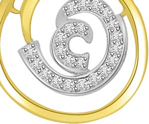 Sound Of Universe 0.20ct Om Diamond Pendants -Teenage