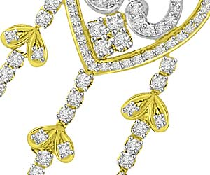 Flawless Beauty 1.61ct Diamond Love Pendants
