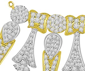Fleur -De -Lis 1.44ct Diamond Necklace Pendants For My Love