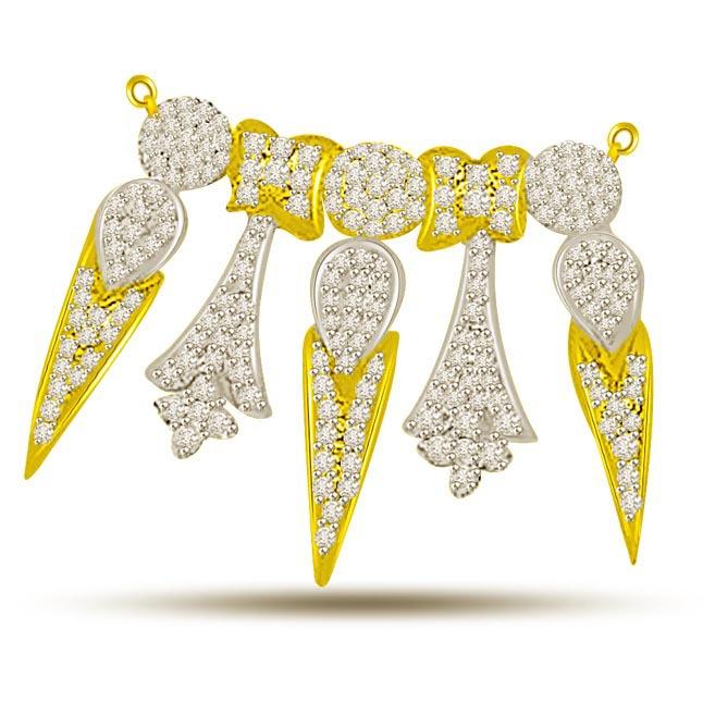 Fleur -De -Lis 1.44ct Diamond Necklace Pendants For My Love