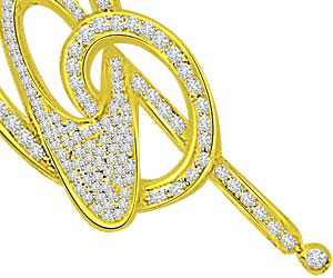 Unity Of Love 0.36ct Diamond Pendants -Designer Pendants