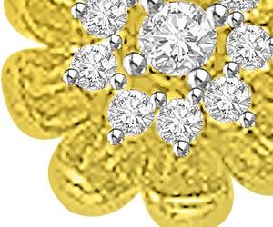 Flower Of Life 0.26ct Designer Diamond Pendants -Flower Shape Pendants