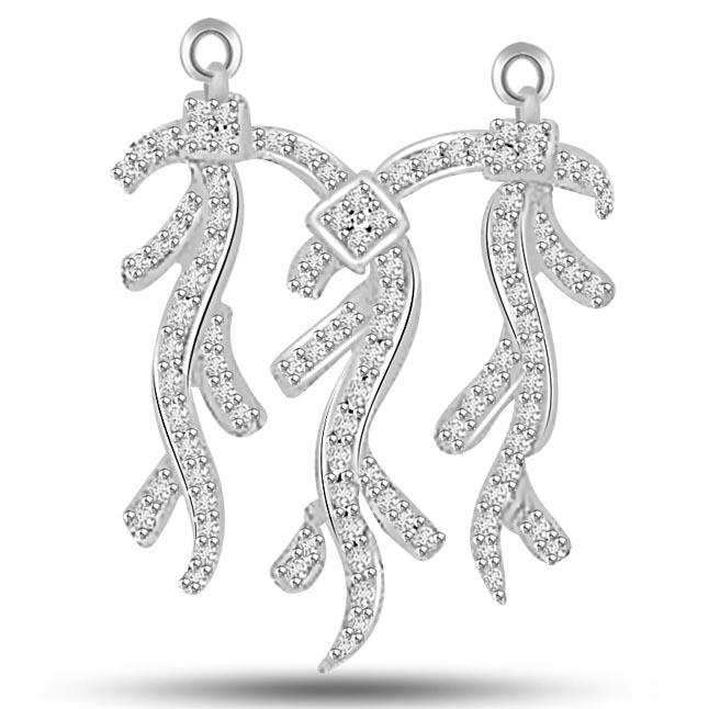 You,Me & Our Love 0.39ct Diamond Pendants Necklaces