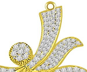Flying Leaves Design 0.65ct Diamond Pendants Necklaces
