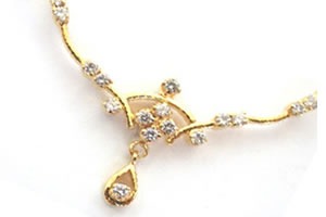 0.29cts Beautiful Diamond Necklace Pendants Necklaces