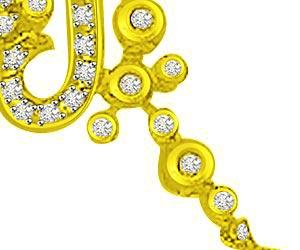 0.35ct Musical Diamond Pendants For My Love -Designer Pendants