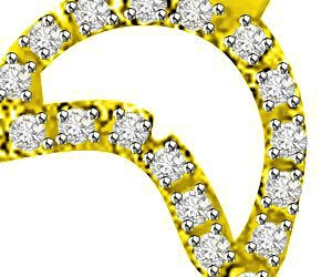 Love Bond 0.34ct Diamond Pendants For Her Necklaces