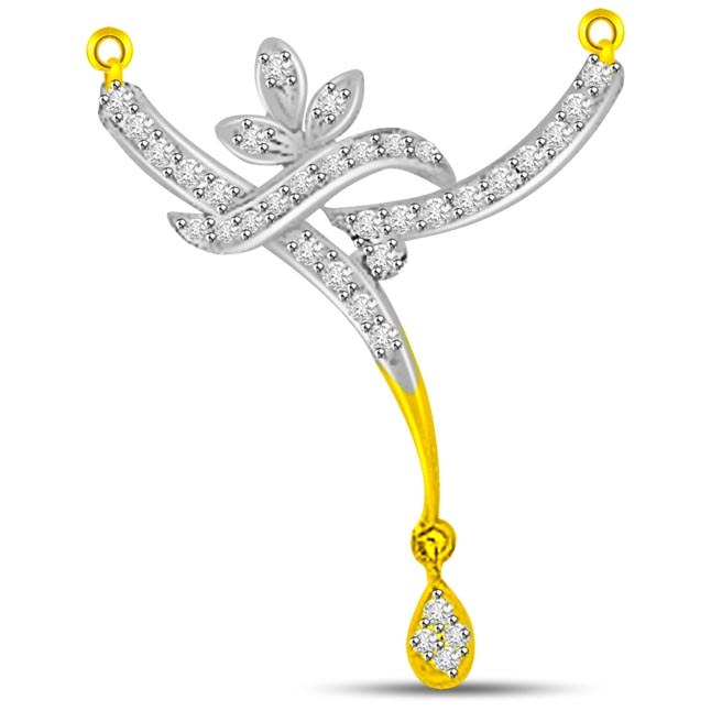 Waterfall Design 0.30ct Diamond Necklace Pendants