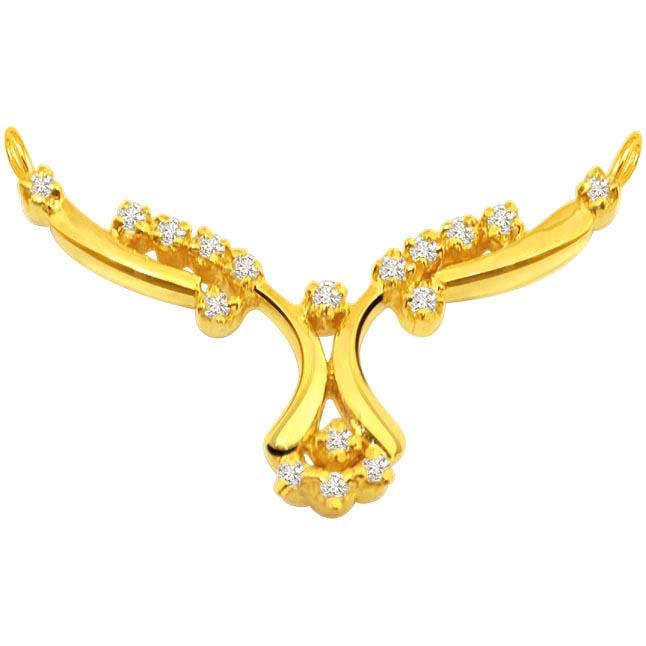 Blinger Beauty Diamond Necklace Pendants Necklaces