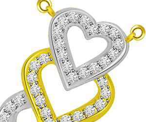 Hearts On Fire Two Tone Diamond Pendants