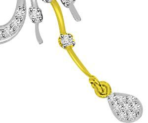 Wings Of Love & Dew Drop Diamond Necklace Pendants