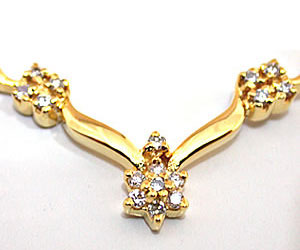 Striking n Shimmerings Diamond Necklace Pendants Necklaces