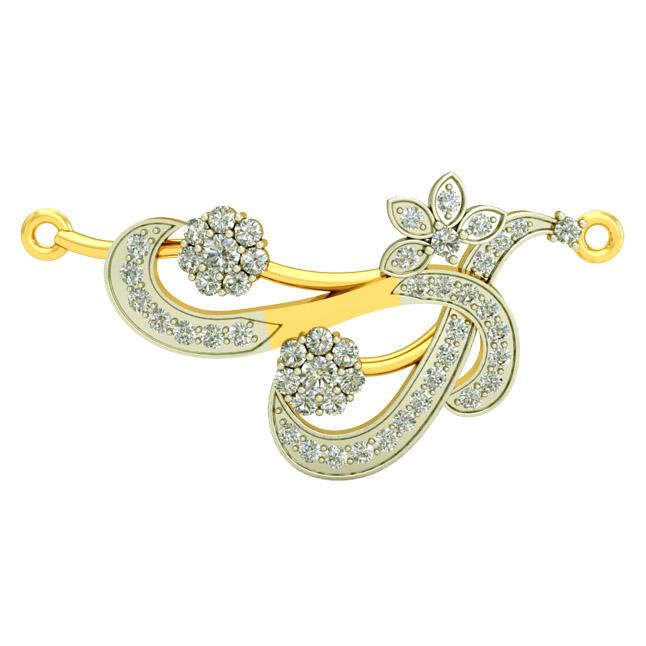 Floral Life Gold & Diamond Pendants DN437 Necklaces