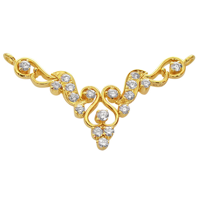 Fairy Tale 0.45ct Diamond 18kt Gold Necklace Pendants Necklaces