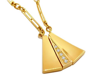 Diamond Pendants With Chain DN45 Necklaces
