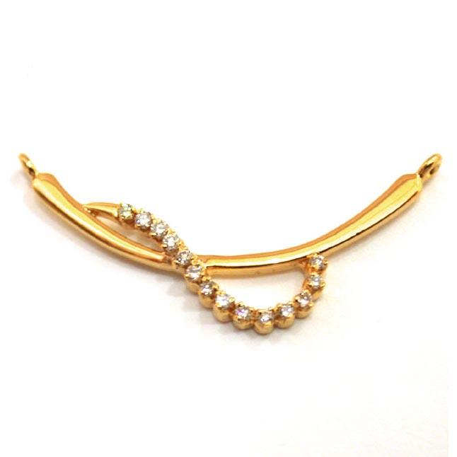 A Simple Gold & Diamond Necklace Pendants Necklaces