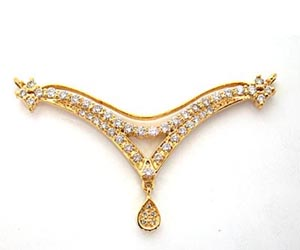 A Simple Diamond & Gold Necklace Pendants DN60 Necklaces