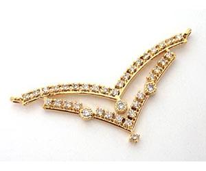 A very Simple Diamond & Gold Necklace Pendants Necklaces