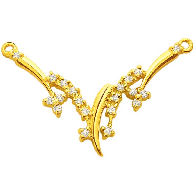 A Beautiful Diamond & gold Necklace Pendants DN66 Necklaces