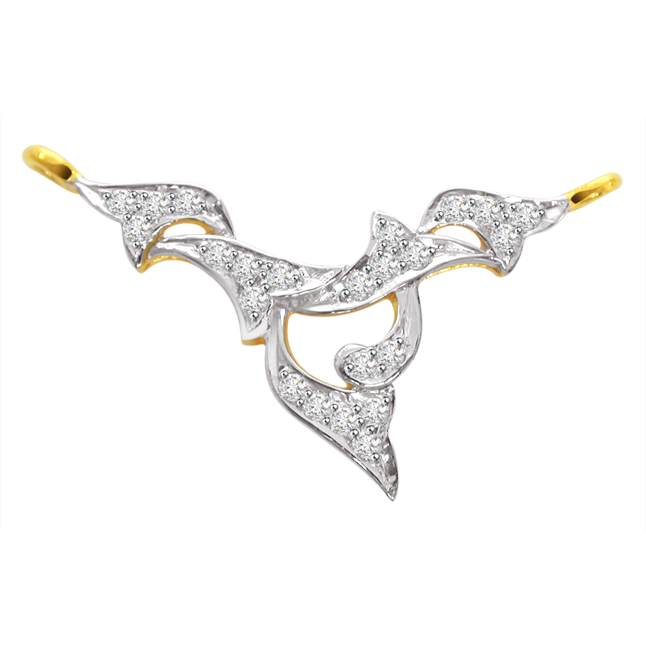 Delicate Dual Plated Diamond Necklace Pendants DN68