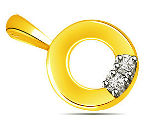 Donut Loop -0.06 cts Diamond Pendants -Designer Pendants