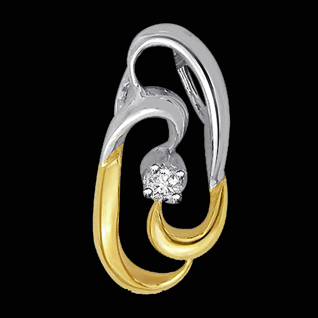 Double Your Smile Diamond Pendants -P1371