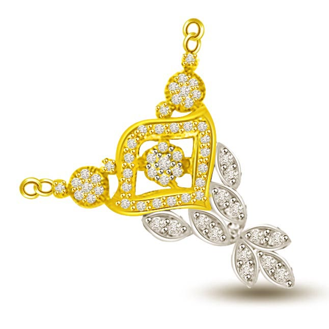Dream of Fairy Two Tone 0.64ct VS Diamond Mangalsutra Pendants