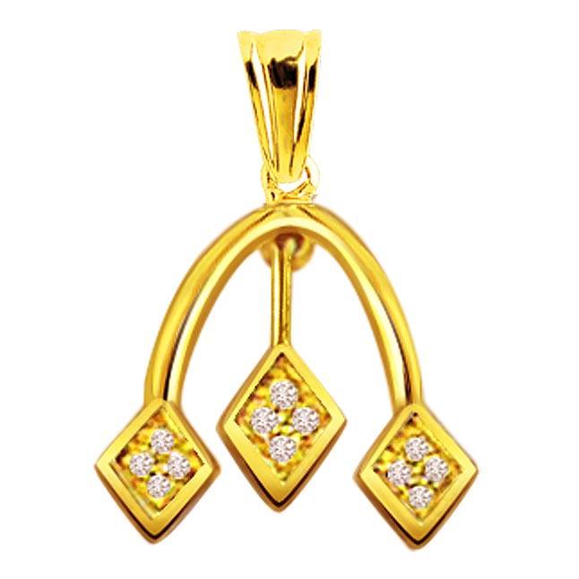 Drop of Love Diamond Pendants P372 -Designer Pendants