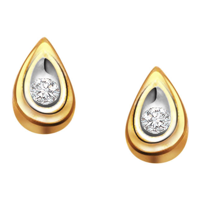 Drop of Love Real Diamond Earrings -Solitaire Earrings