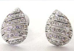 Drops of Diamond -Beautiful Diamond Earrings -Designer Earrings