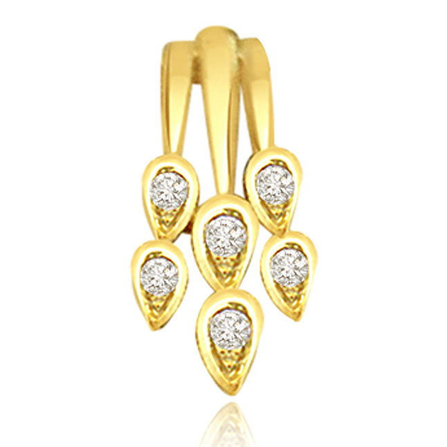 Drops of Rain Diamond Pendants P460 -Designer Pendants