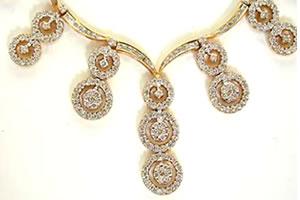 Raining Star Drops 3.48ct Classy Diamond Necklace Set