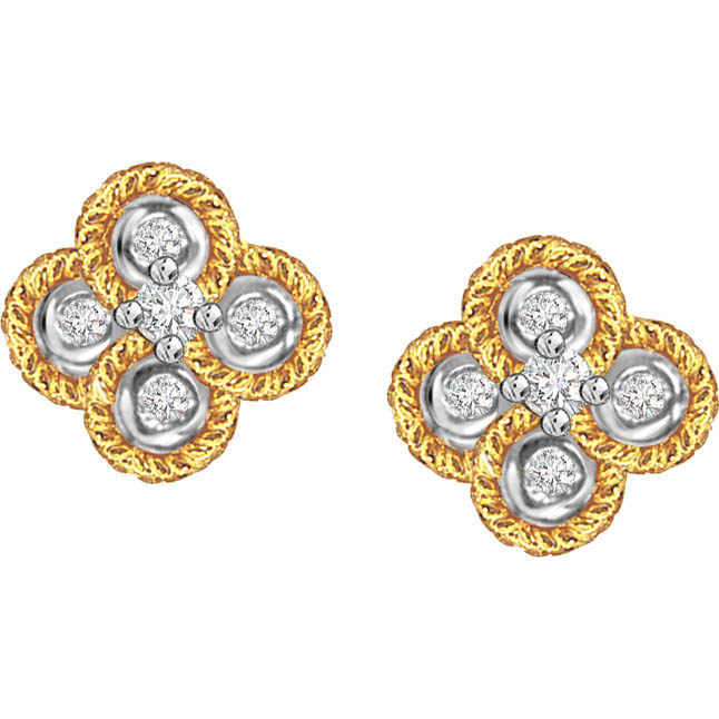 Easy Elegance ER -97 -Flower Shape Earrings
