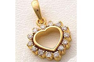 Out of the Heart Studded Eternal Heart Pendants