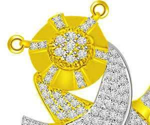 Embrace Of Love Two Tone Diamond Gold Mangalsutra
