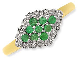 Emerald ringslet 0.08 ct Diamond & Emerald rings -Diamond & Emerald