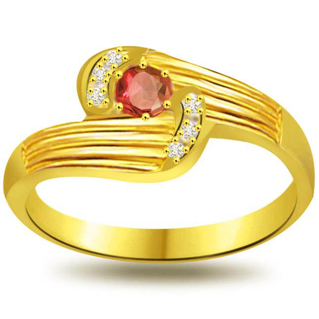 Enamorings You Diamond & Ruby rings