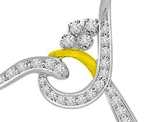 Encircled With Love 0.27ct Diamond Pendants