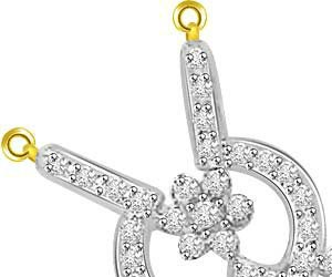 Energy Of My Life Gold & Diamond Pendants For Her -Flower Shape Pendants