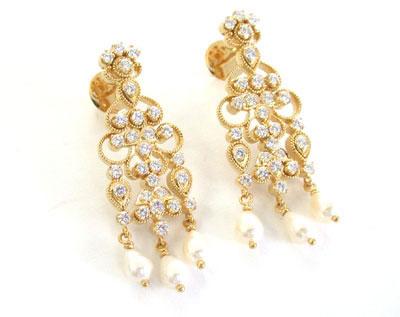 She Is My Angel -Diamond Earrings