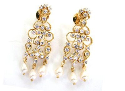 She Is My Angel -Diamond Earrings