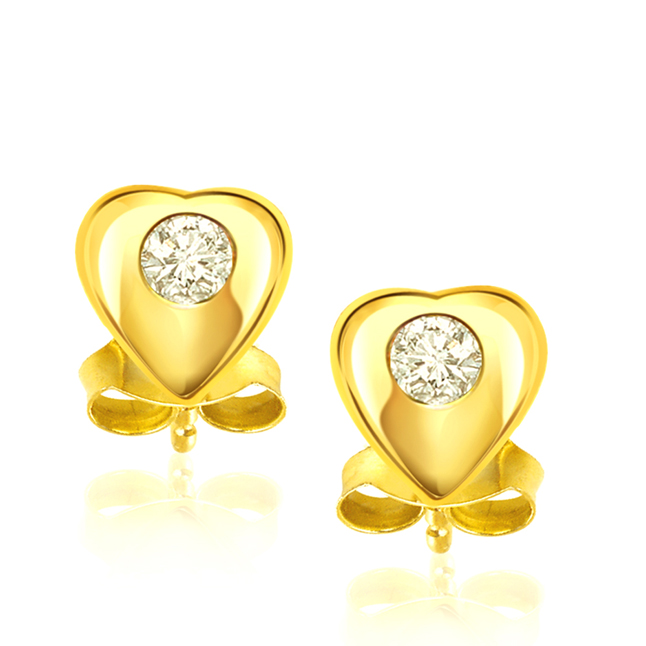 Hearty Surprise -Solitaire Earrings
