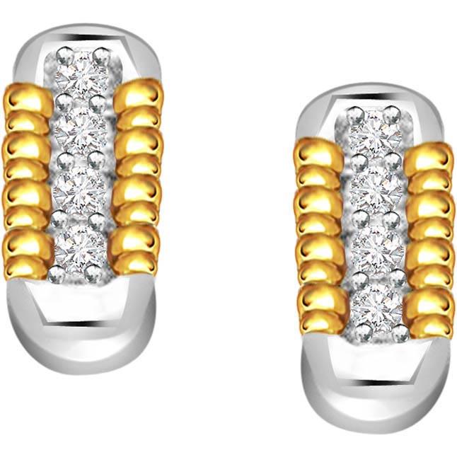 Magical Stick 0.40 ct Diamond Bali Earrings